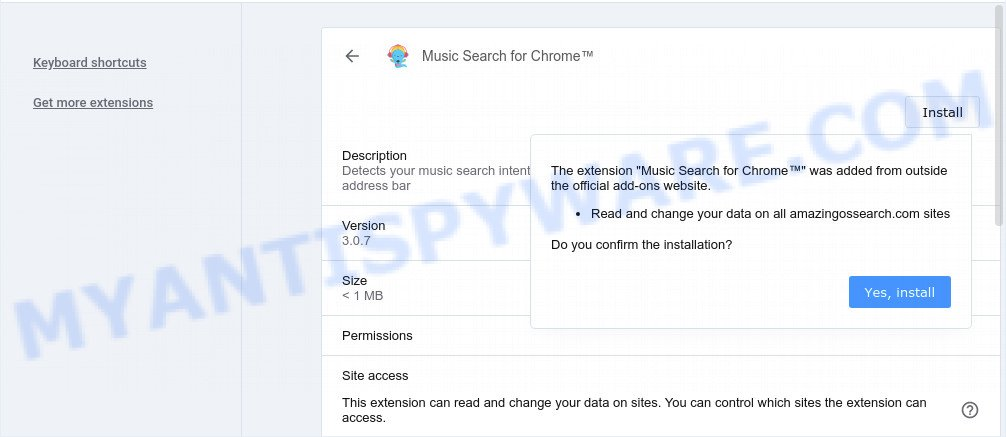 Music Search for Chrome extension