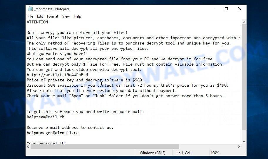 Rejg ransom note