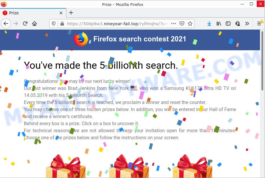You've made the 5-billionth search - new version