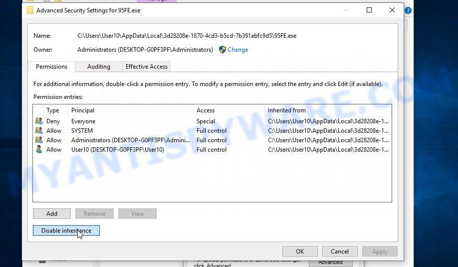 remove Ehiz virus 3