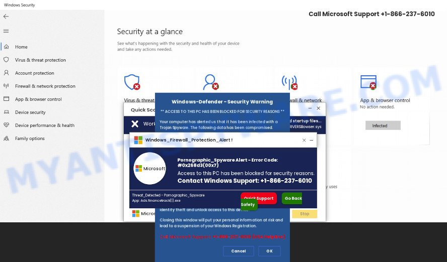Access to this pc has been blocked for security reasons SCAM