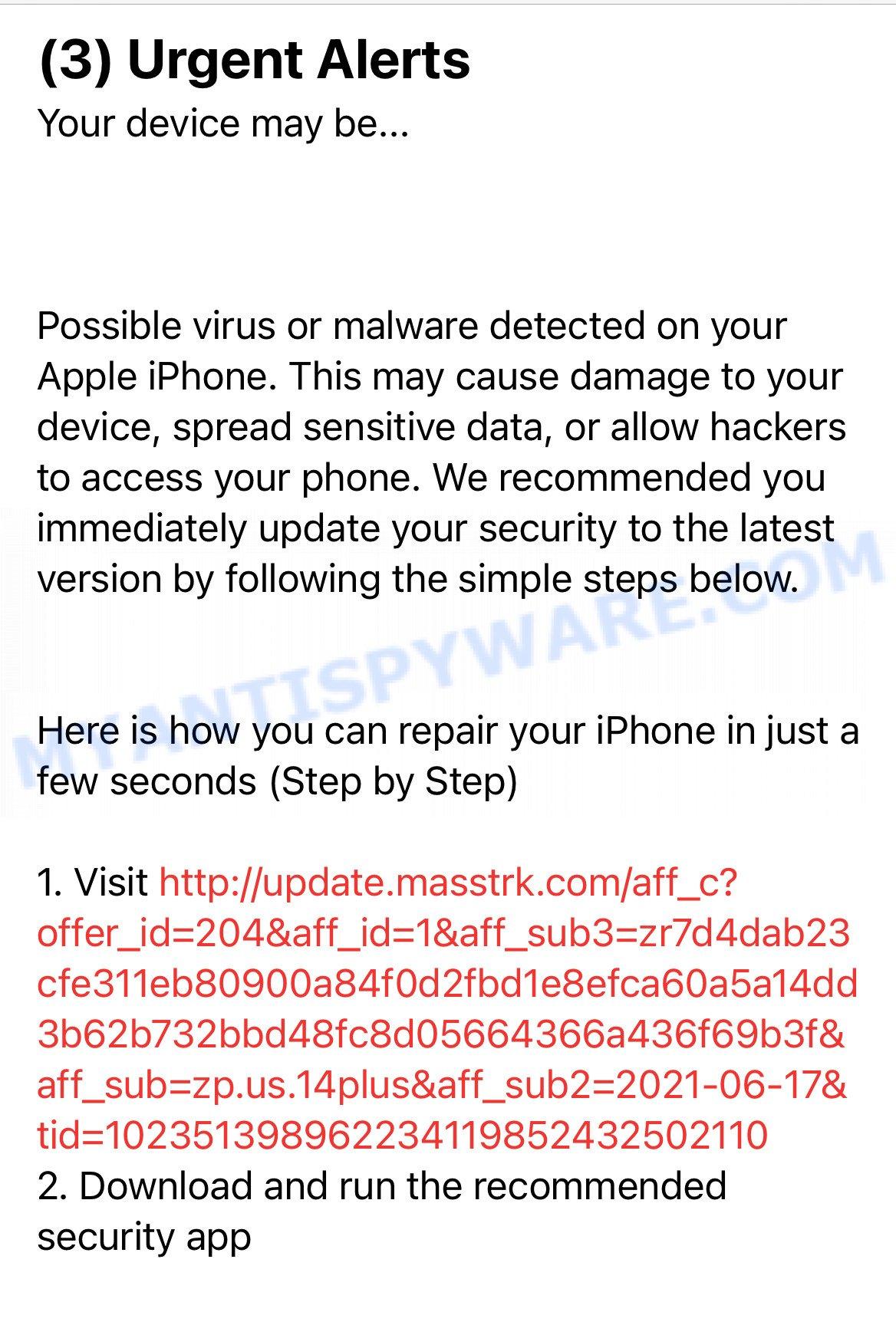 masstrk fake alert