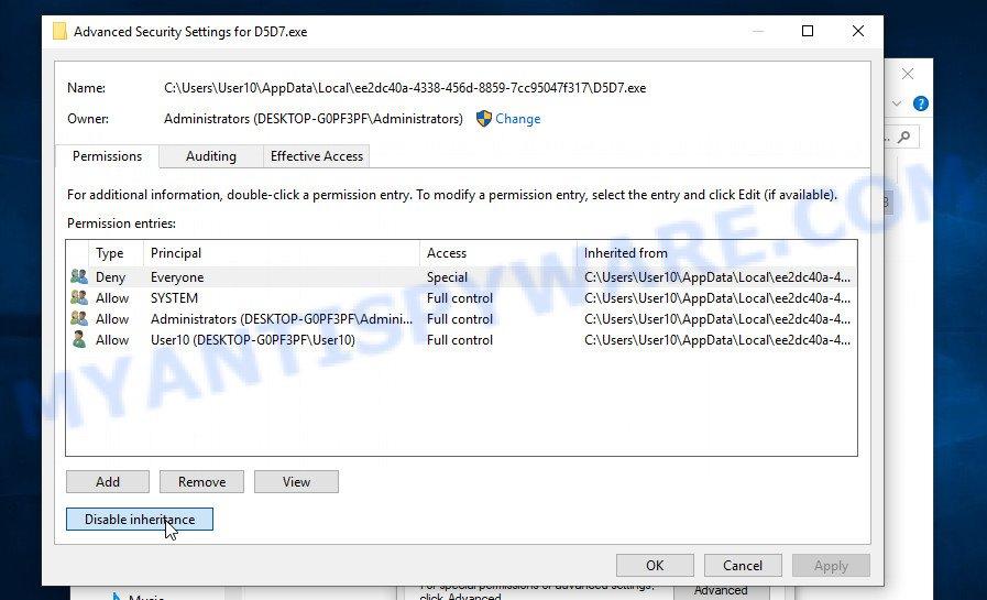 remove Sspq virus 3
