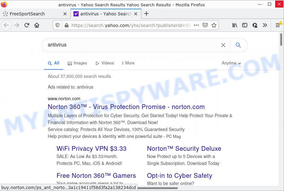 FreeSportSearch ads