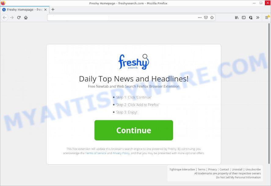 Freshy browser hijacker