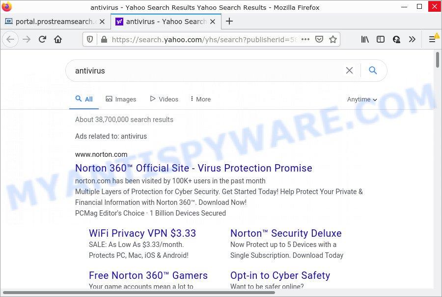 ProStreamSearch ads