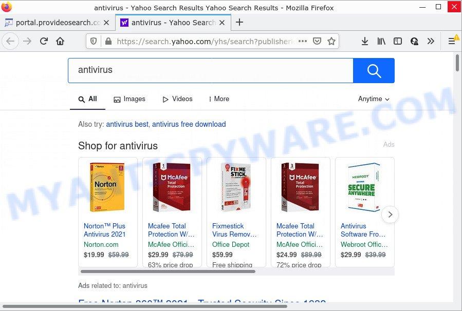 ProVideoSearch ads