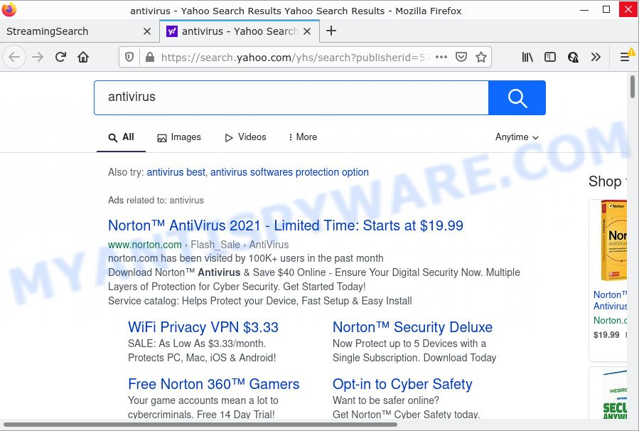 StreamingSearch ads
