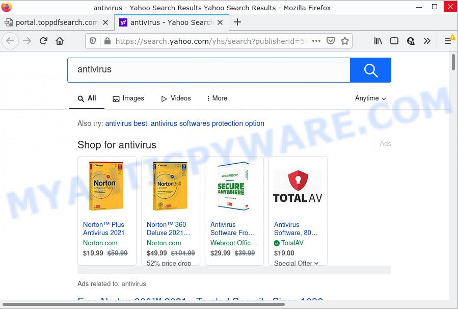 TopPDFSearch ads
