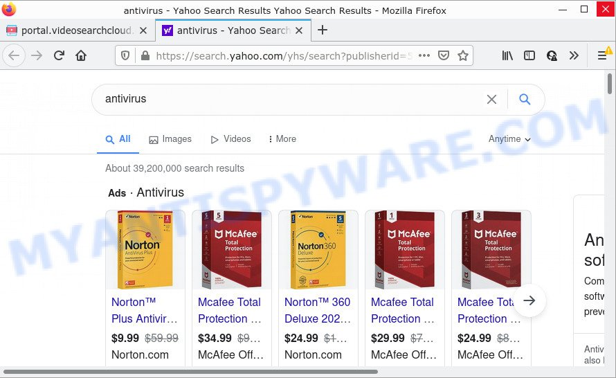 VideoSearchCloud ads