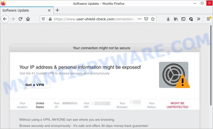 Your IP address personal information might be exposed SCAM