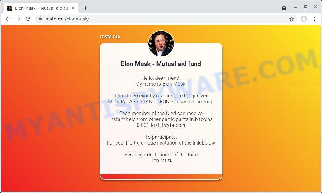 Elon Musk - Mutual aid fund SCAM