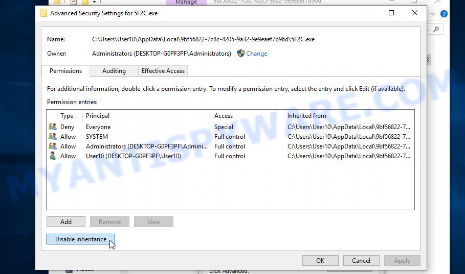 remove Efdc virus 3