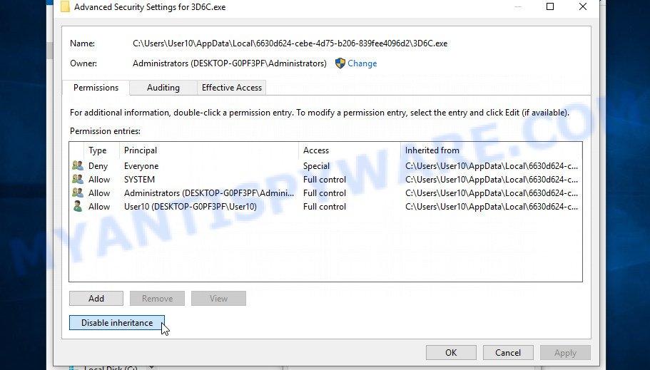 remove Tisc virus 3